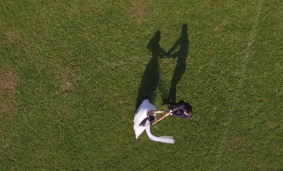 Air-Drone - sesja ślubna z drona