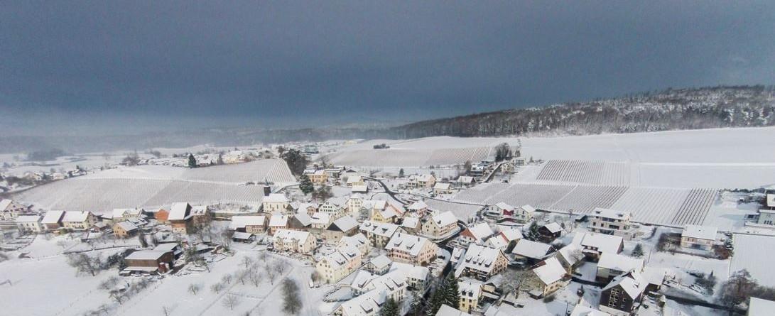 Zima z drona